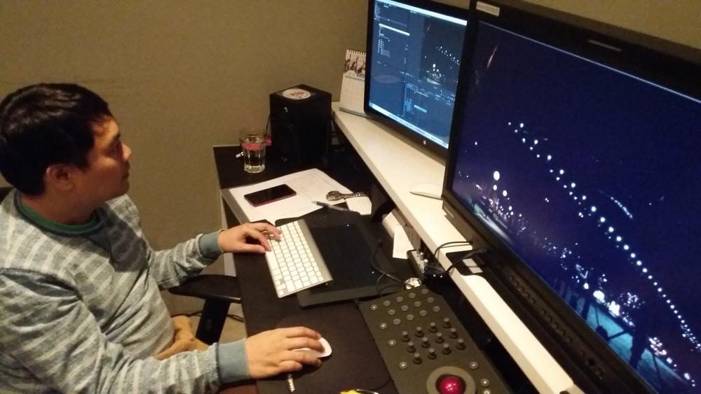 Chris on the 1st edit shift