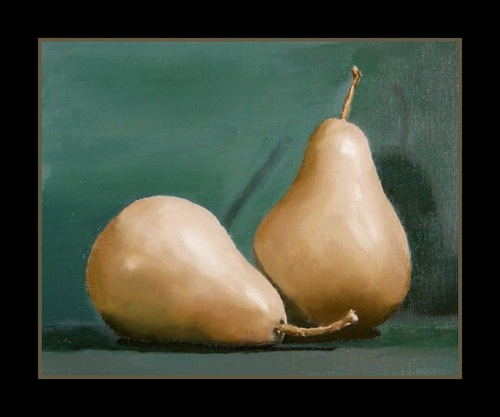 Pears - Oil on panel 8x10