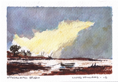 "Approaching Storm - Watercolour 3.5""x5"""
