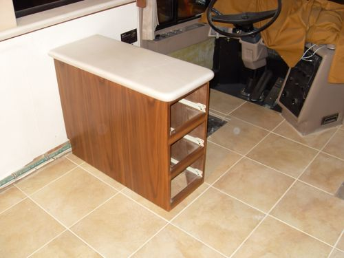 Endtable reinstalled on the new tile