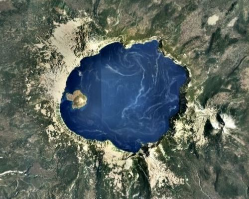 Crater Lake from Google Earth