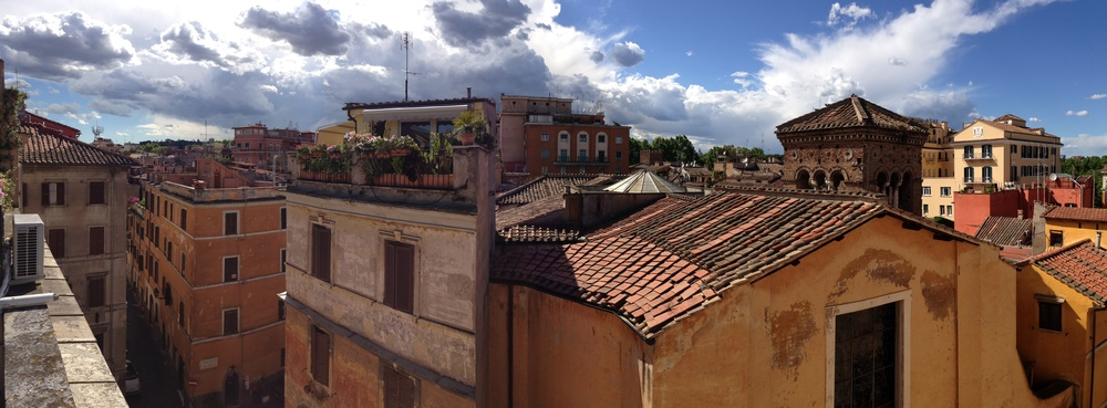 Panorama of roof tops