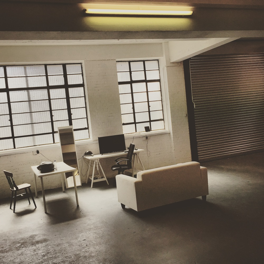 This is the studio in it's current occupancy. We intend on turning this particular space into a raised client lounge area overlooking the main work space.