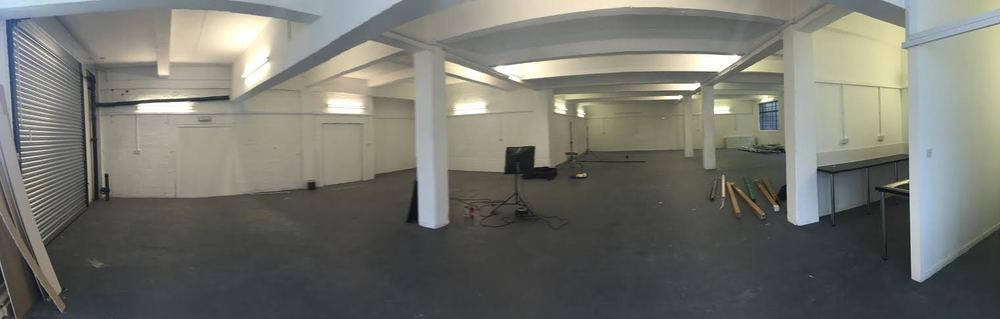 This is a panoramic of the main space, we intend on adding partitions to the far area so it can be used a offices for a creative company, plus a separate, self containedphotography studio.