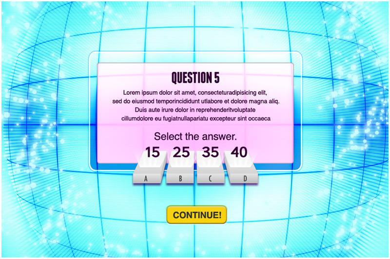 Brainship Quiz sample page