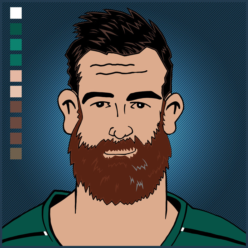 Gordon D'Arcy -I did think about painting a lumberjack shirt on him. He chops men down on the tackle.
