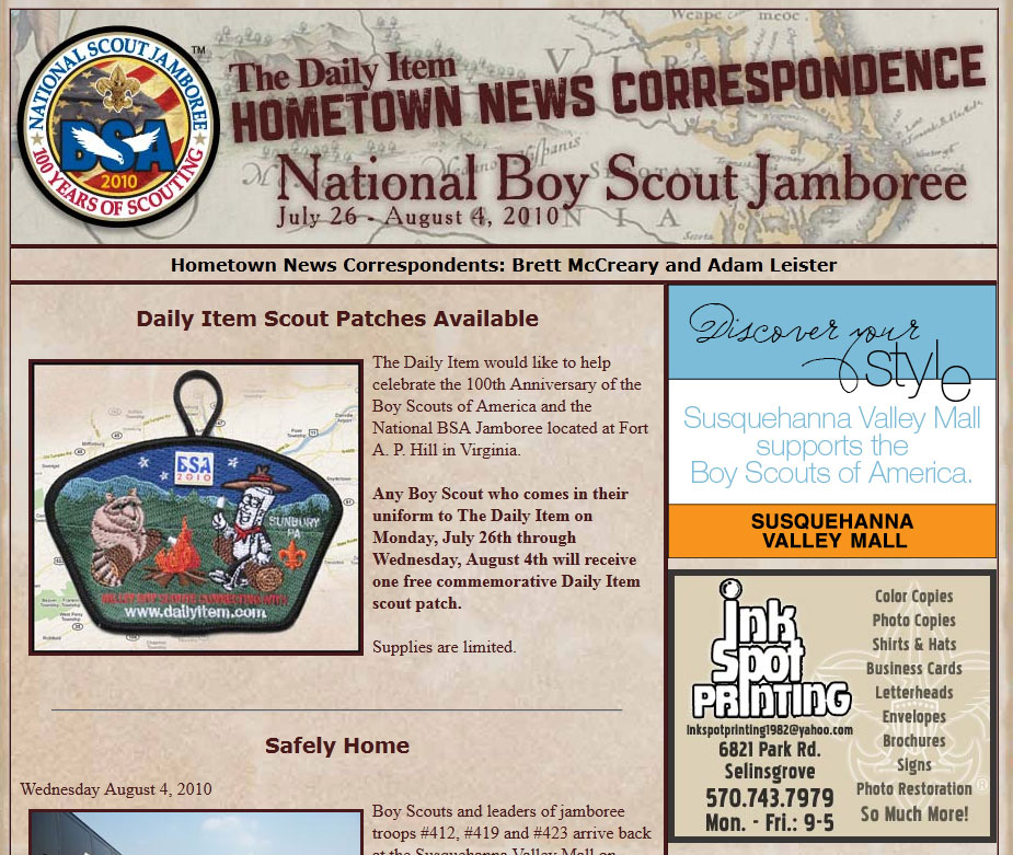 Boy Scout Jamboree News Site