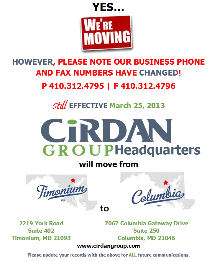 Cirdan Group HQ is moving!