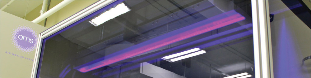 UV LED testing chamber at AMS