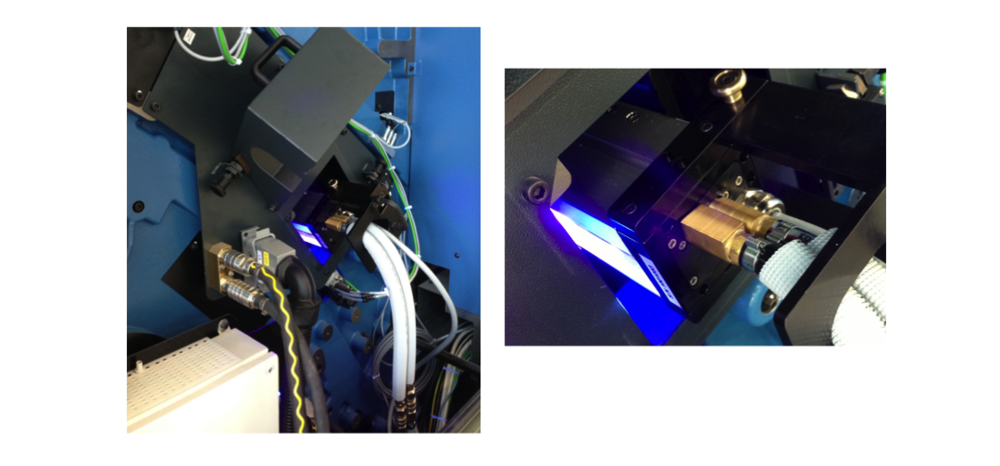 Installation Example of 1x AMS LED UV Module in the Upsweep Delivery