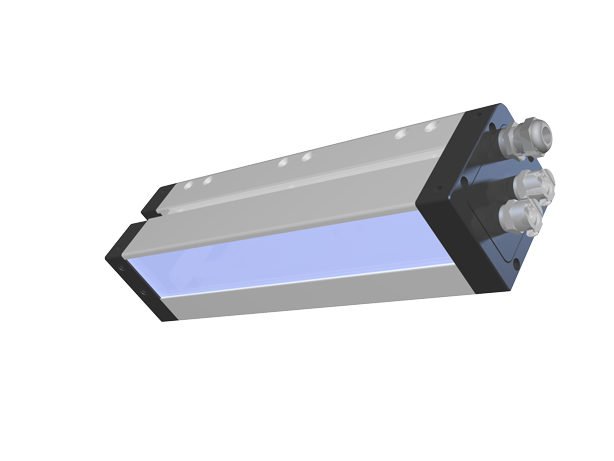 AMS Peak LED UV XP5 Flexo Series module with emitter window shown