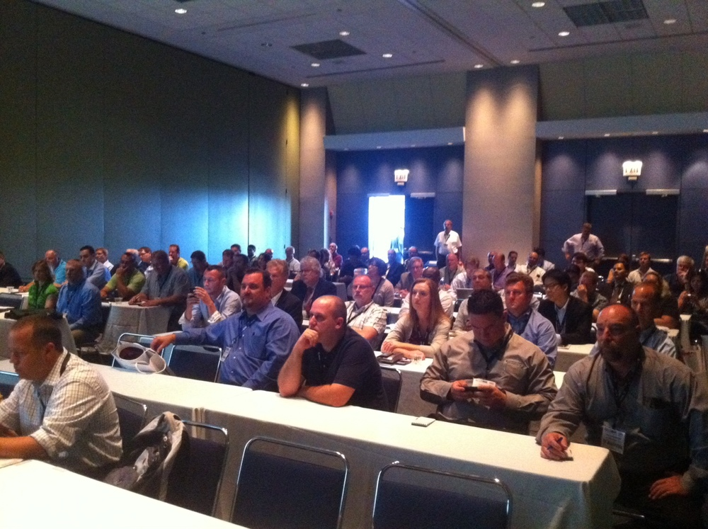 A standing room only crowd attended the UV LED technology seminar at PRINT 13 on September 10, 2013