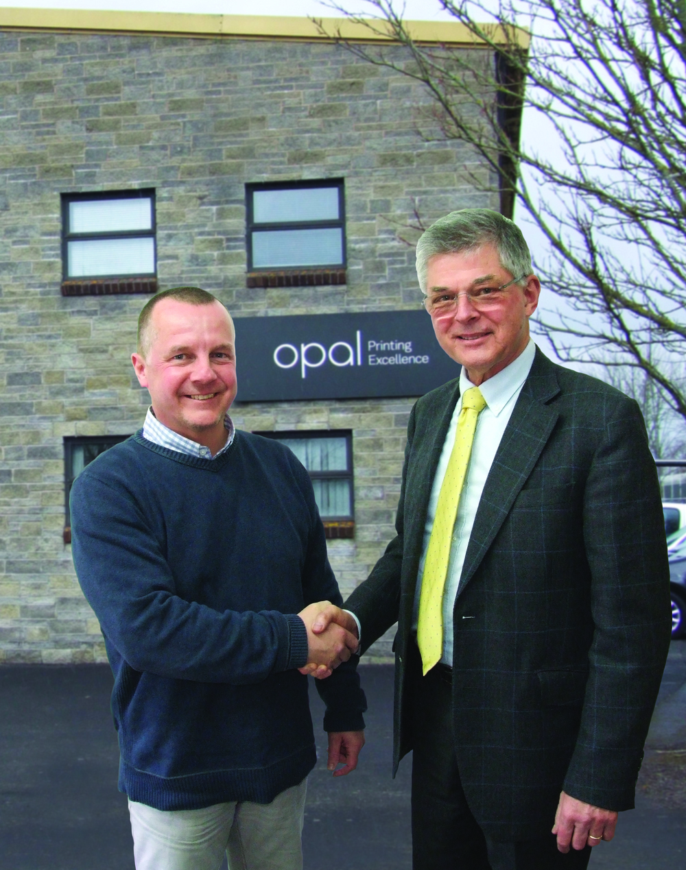Keith Lunt (Opal Print MD) with Claus Nielsen (AMS UK).