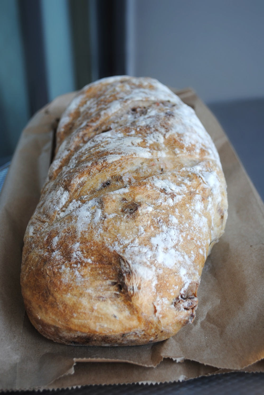Walnut, sea salt and rosemary bread.