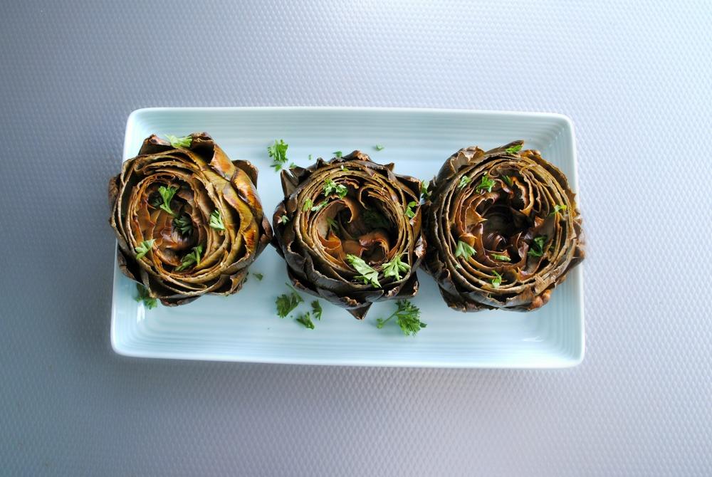 easy foil-packet roasted artichokes