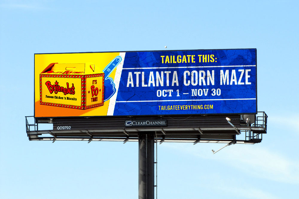 Digital billboards advertise local events aka local things to tailgate.