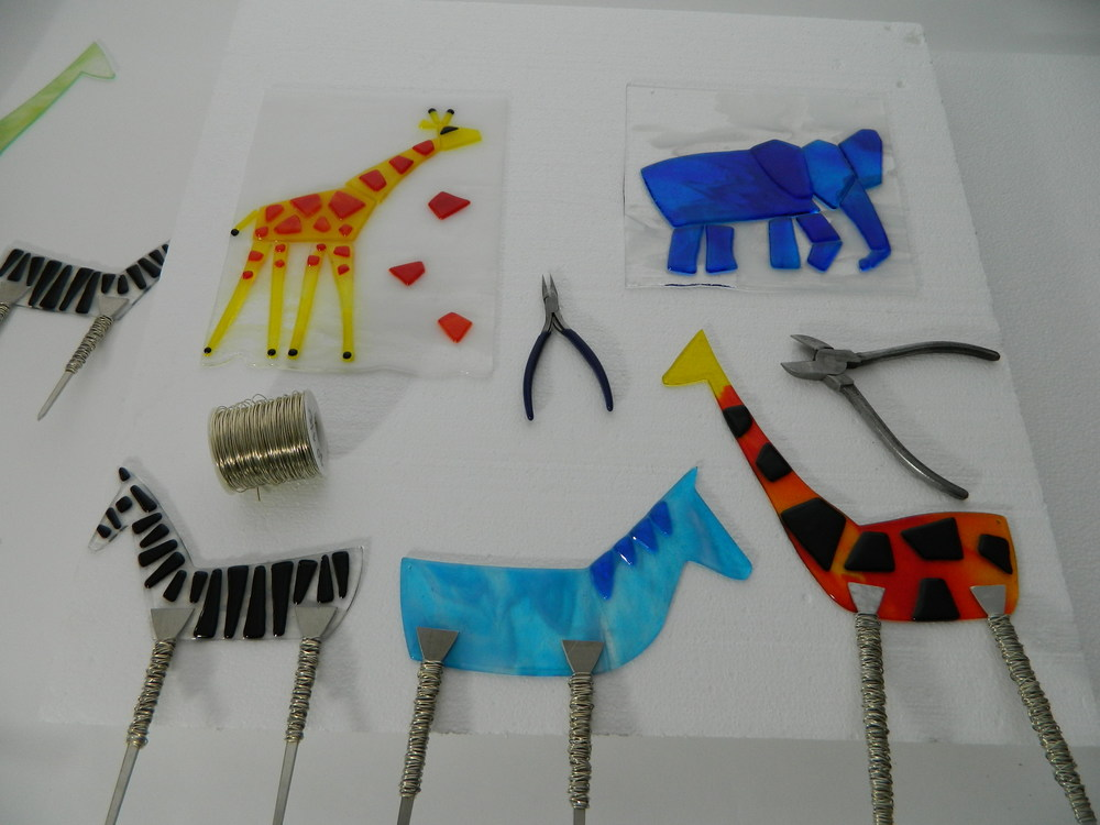 A herd of Morag Design animals await finishing touches.
