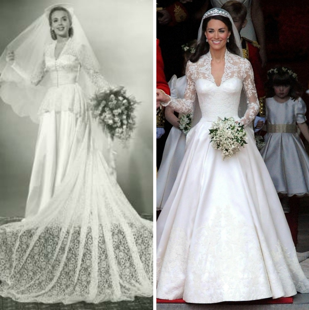 Throwback thursday brides then and now nycstylist for Wedding dress 30s style