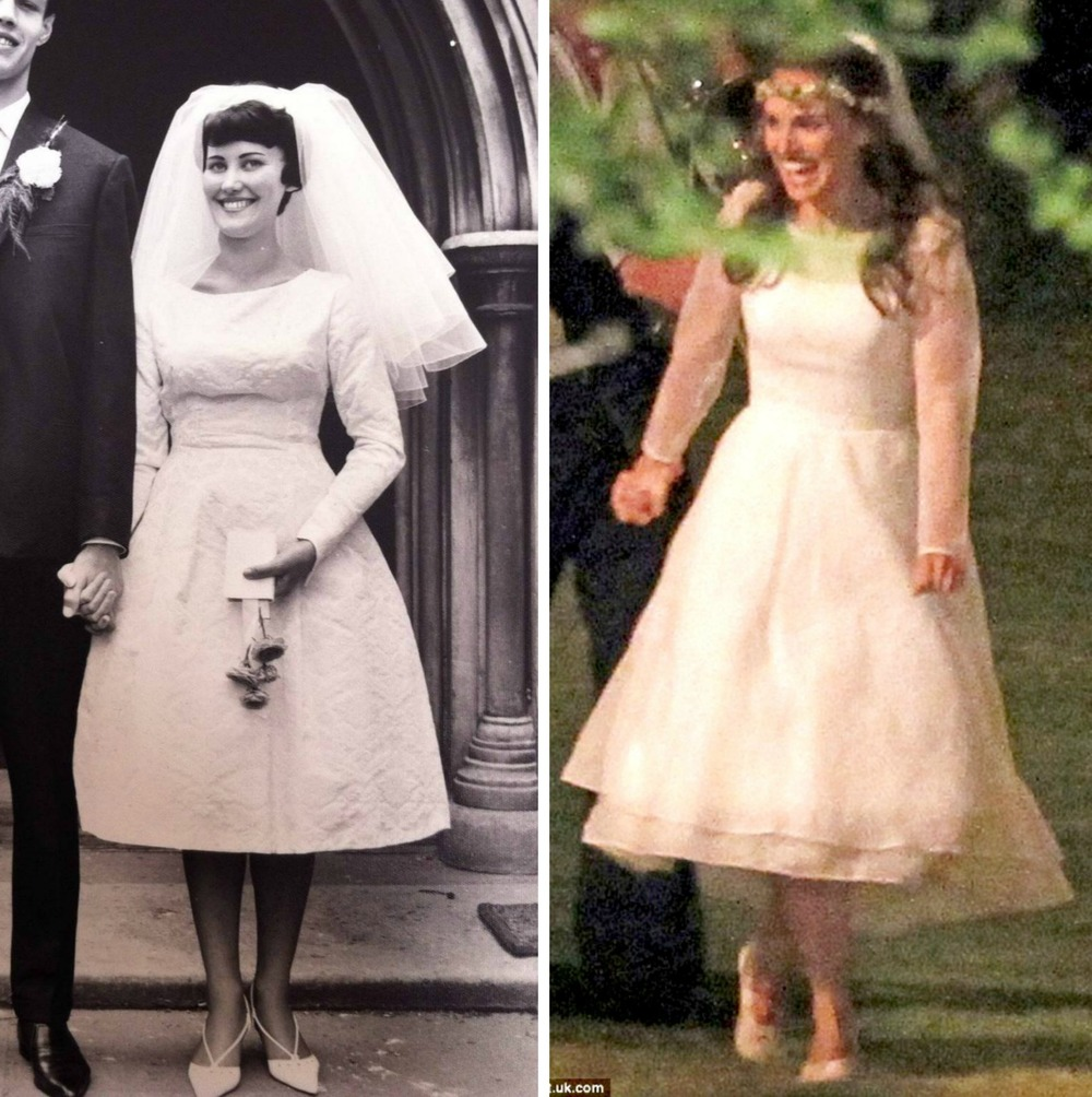 From left to right: 60's Bride, and and Natalie Portman's Rodarte short dress.