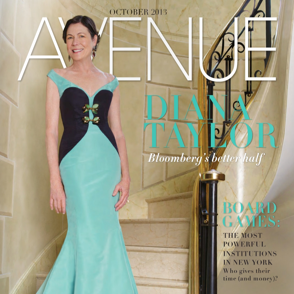 Diana Taylor, Avenue Magazine