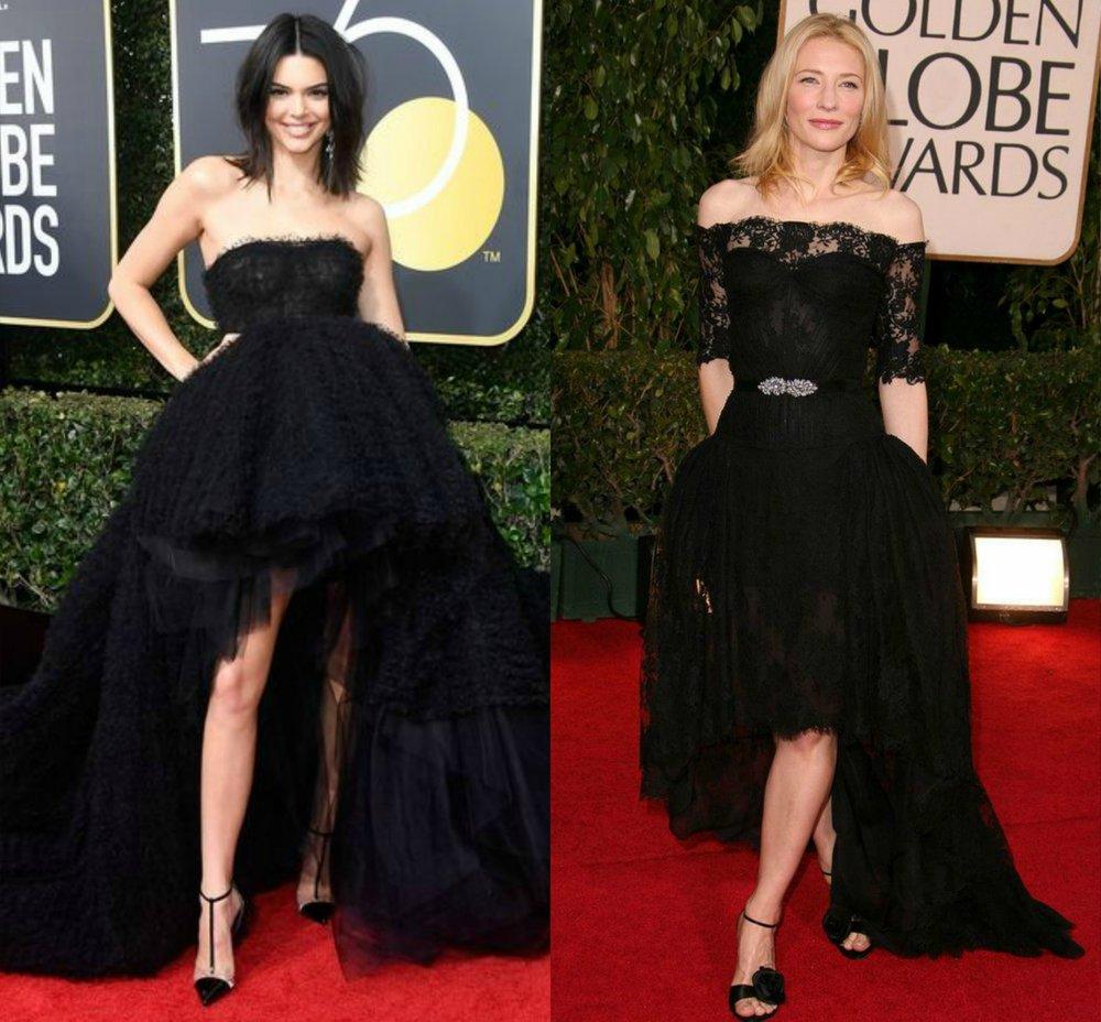 Kendall Jenner- Giambattista Valli 2018 | Cate Blanchett- Alexander McQueen 2007