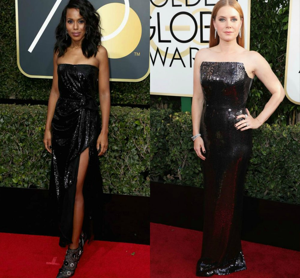 Kerry Washington- Prabal Gurung 2018 | Amy Adams- Tom Ford 2017
