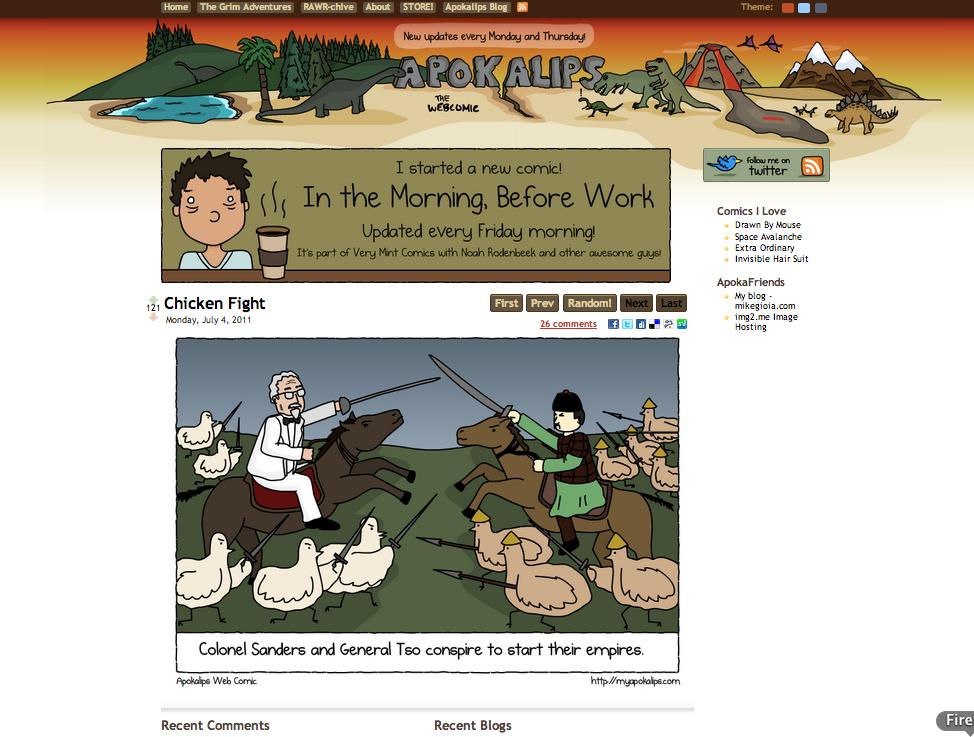 My Apokalips homepage  www.MyApokalips.com