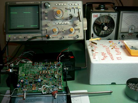 Completed Phase 6 Receiver AGC and op-amp Audio Filter