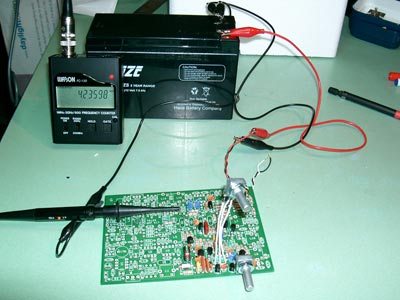 The VFO running under test