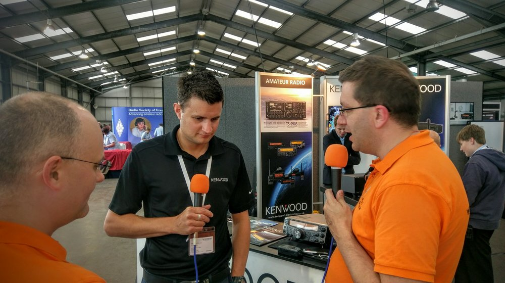 Martin Rothwell (M0SGL) interviewing Mark Haynes of Kenwood