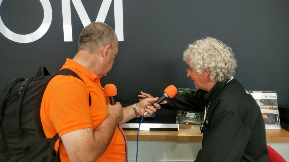 Martin Butler (M1MRB / W9ICQ) interviews Chris Ridley of Icom