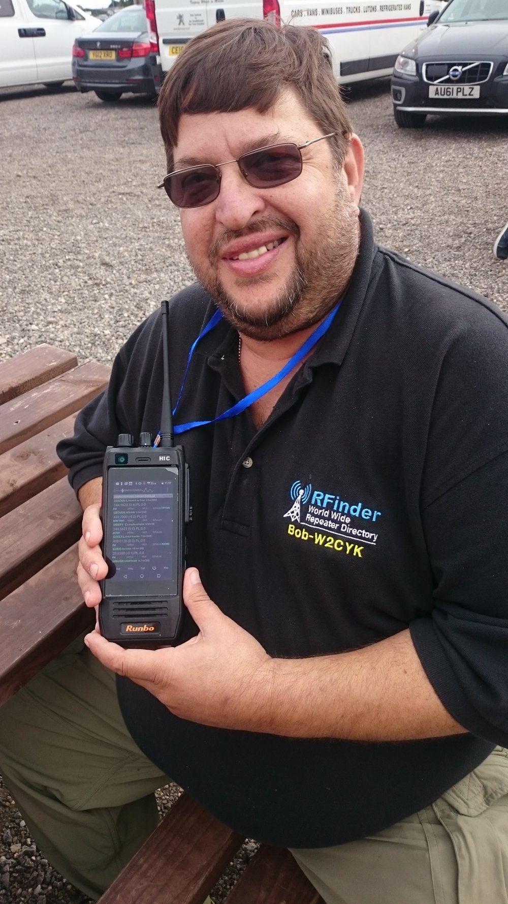 Robert Greenberg W2CYK with his RFinder Android Digital Radio
