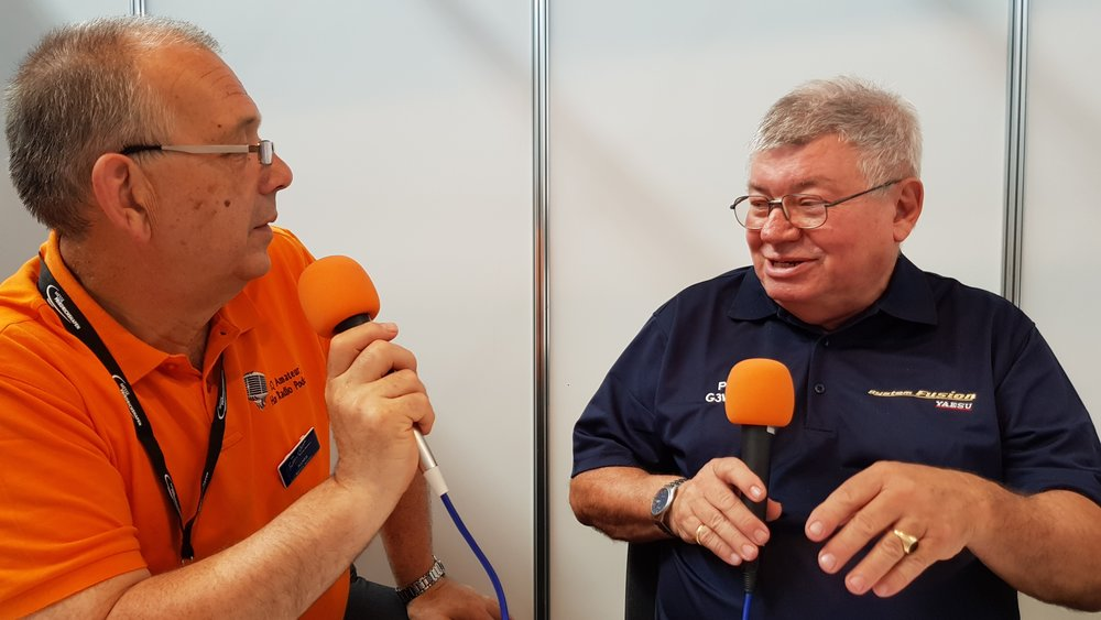 ICQ Amateur/Ham Radio Podcast's Martin Butler (M1MRB/W9ICQ) interviewing Paul Bigwood (G3WYW) of Yaesu regarding the DR2 Repeater