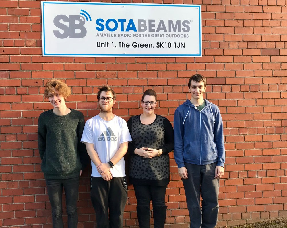 SOTABeam Staff outside their new premises