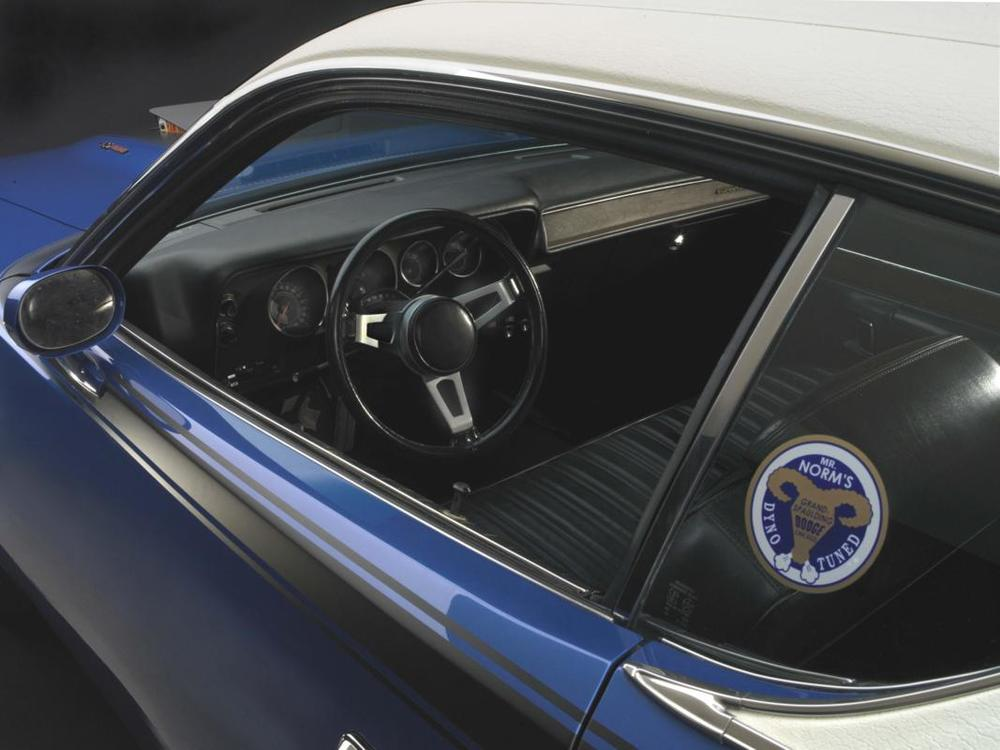 Blue Super Bee interior with _Mr Norm_ sticker.jpg