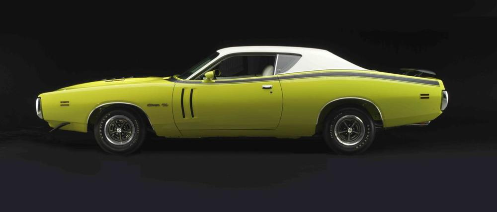 Dodge Charger R-T 440 Magnum 1971 yellow profile left.jpg