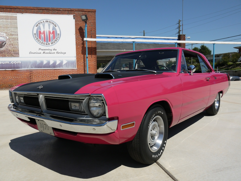 1970 Dodge Dart, 10,100 original mile, in factory FM3 Panther Pink.