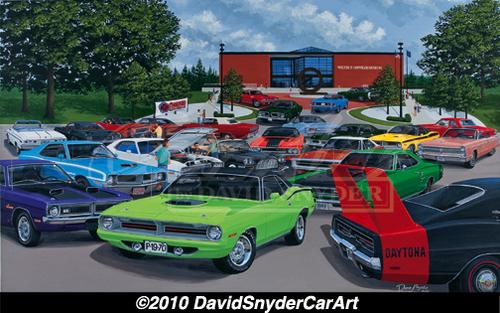 David Snyder Artwork Class Reunion Wellborn Musclecar Museum