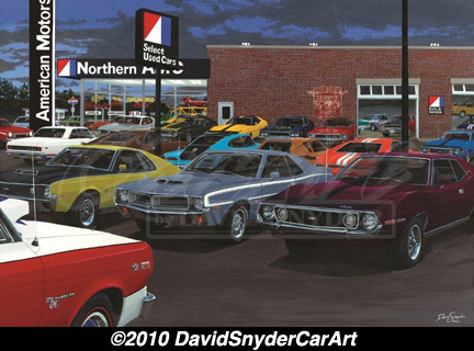 David Snyder Artwork American Muscle Car Wellborn Musclecar Museum