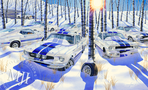 Michael Irvine Artwork Pure As The Driven Snow Wellborn Musclecar