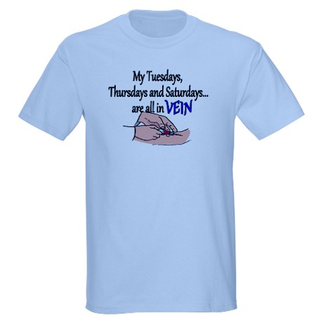 ORGANIC MEN'S,  IN VEIN, DIALYSIS T-SHIRT. CLICK HERE.