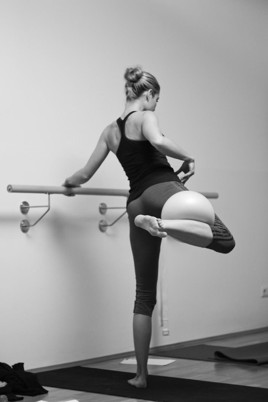 Fotos bei barre-fusion Ausbildung im Körperlot Studio