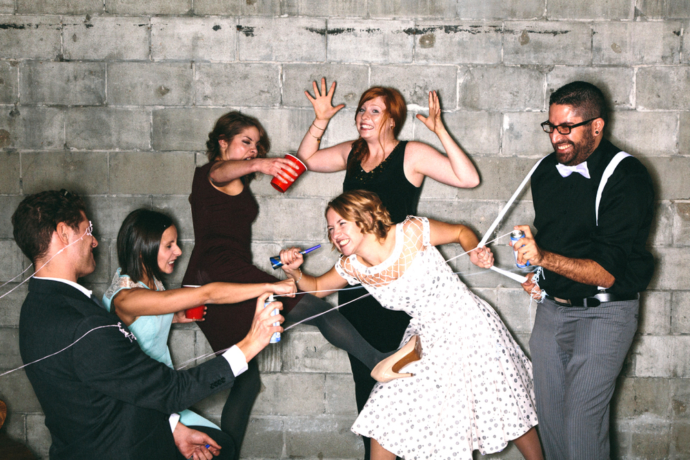 The top-notch 2013 party planning team, left to right:René Prefontaine, Rebecca Zakreski, Greer Frances, Desarée Larsen, Kat Morlock & Ryan Smith. ©Matt Ramage Photo
