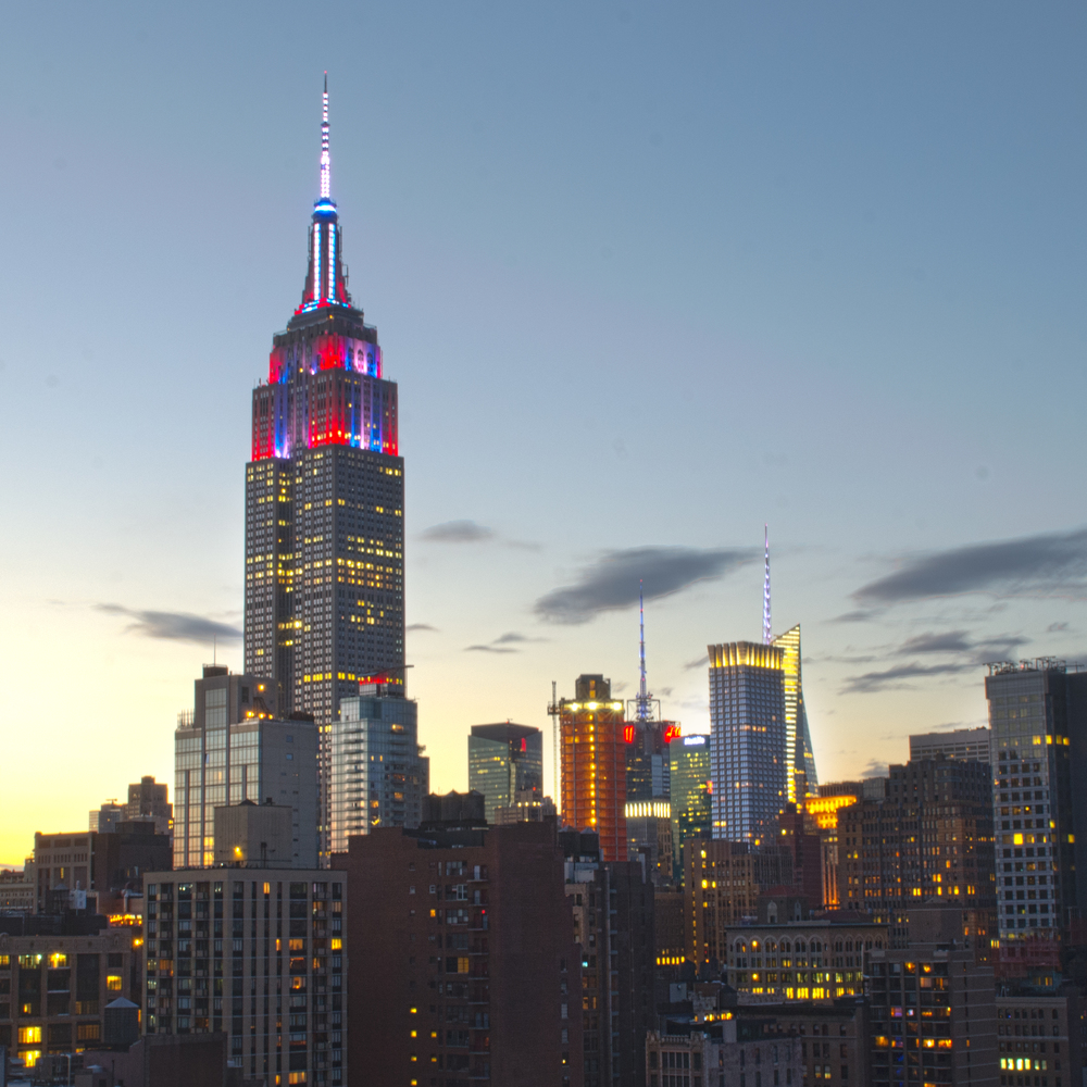 The Empire State shows off its patriotic colors for Independence Day