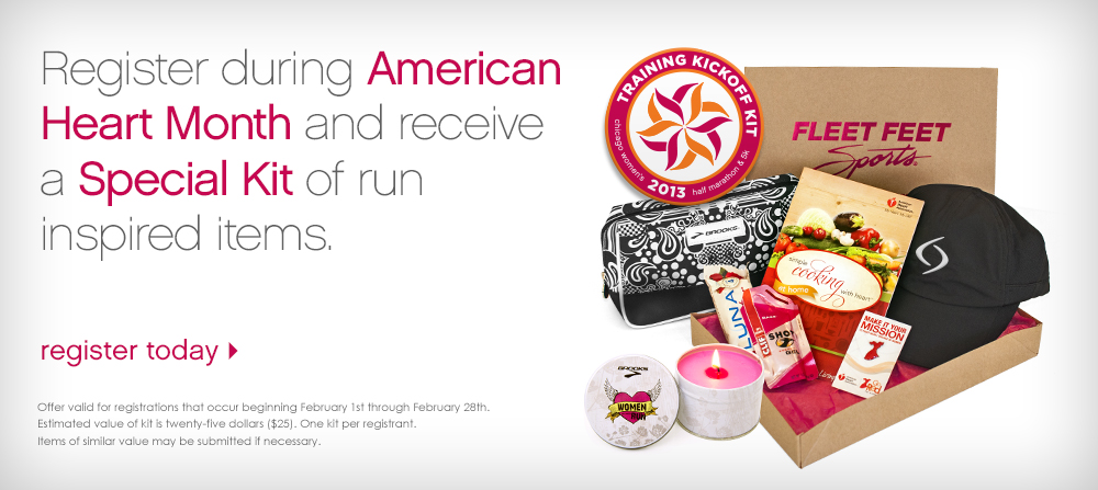 Just to really drive the point home, the race swag includes a makeup bag, a cookbook, and a pink candle.