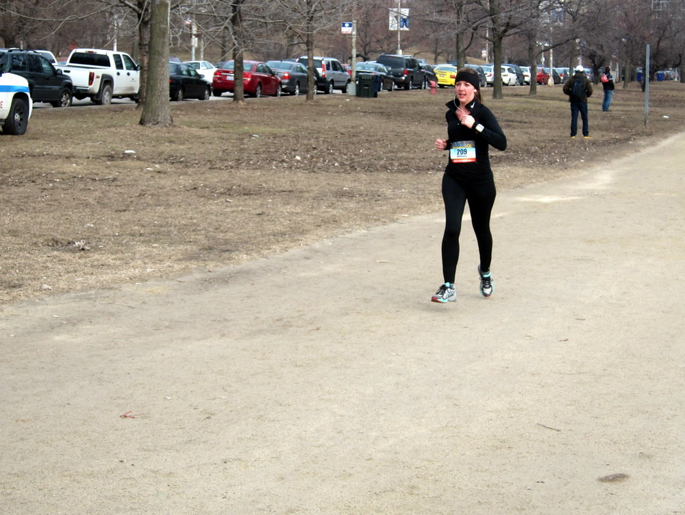 I look like a wooden puppet. Also, I look like I'm power walking. That's not really the graceful sprint I had in mind.