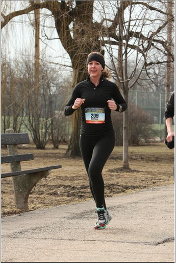 I look happy because I'm running!