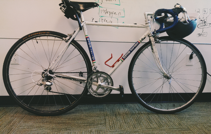 "For a while my bike was living in my office. I'd look at it and think, ""Maybe I'll go for a ride...tomorrow."""