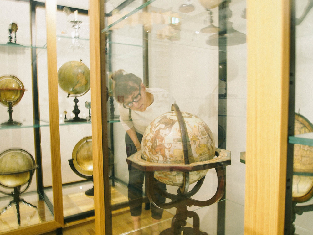 GLOBE MUSEUM. A ton of very old, inaccurate globes.