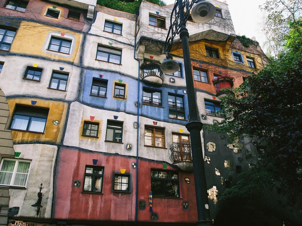 The very coolHundertwasserhaus.